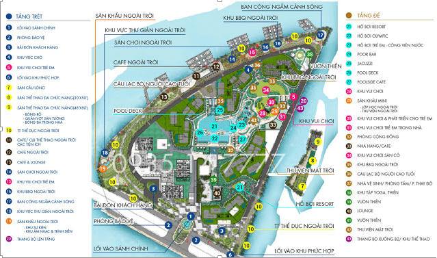 Tiện ích nội khu dự án Đảo Kim Cương (Diamond Island)