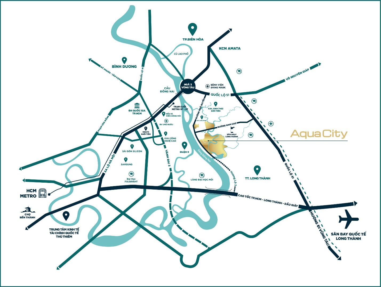 Chủ đầu tư Aqua City - Vị trí