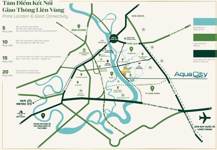 Vị trí căn hộ hạng sang Aqua City