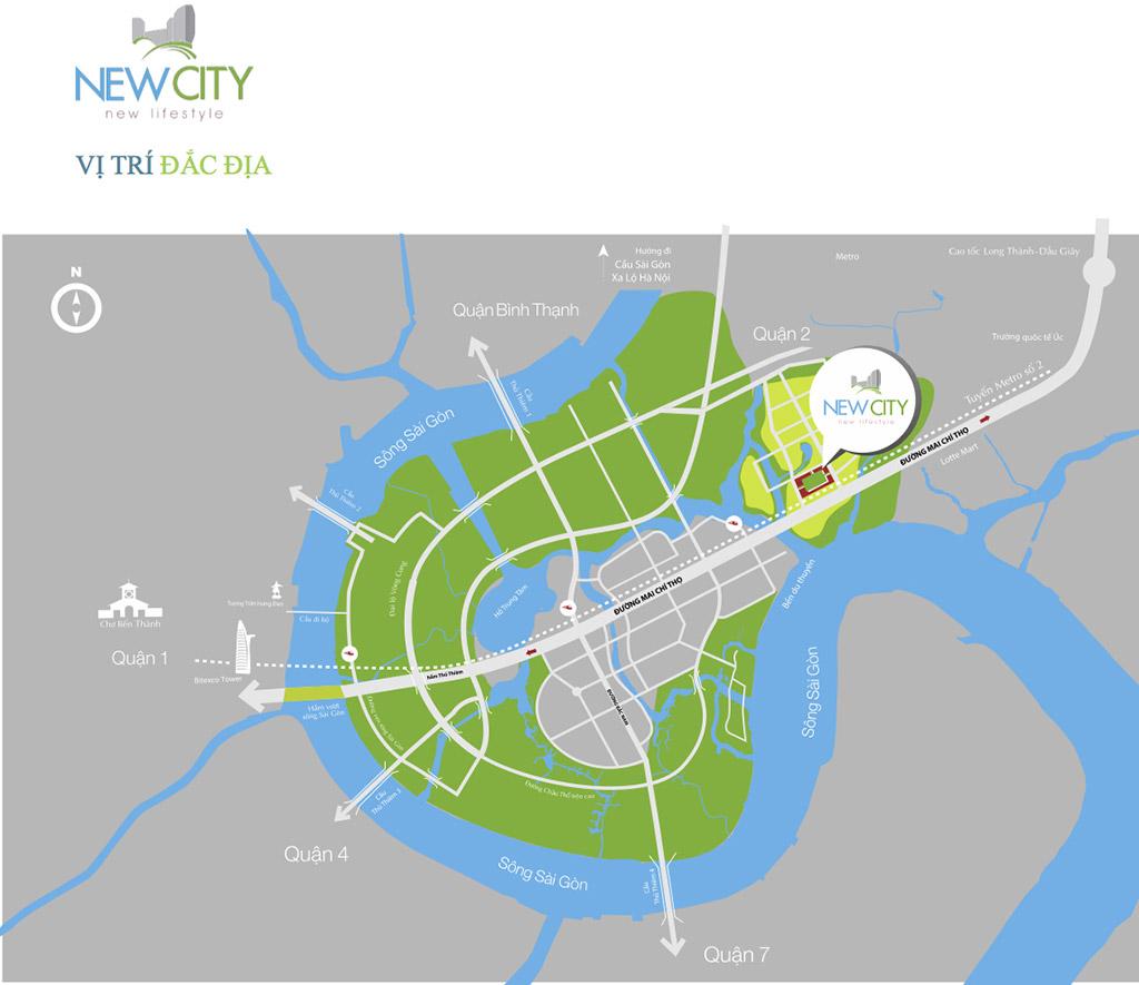 Vị trí điểm nổi bật dự án New City