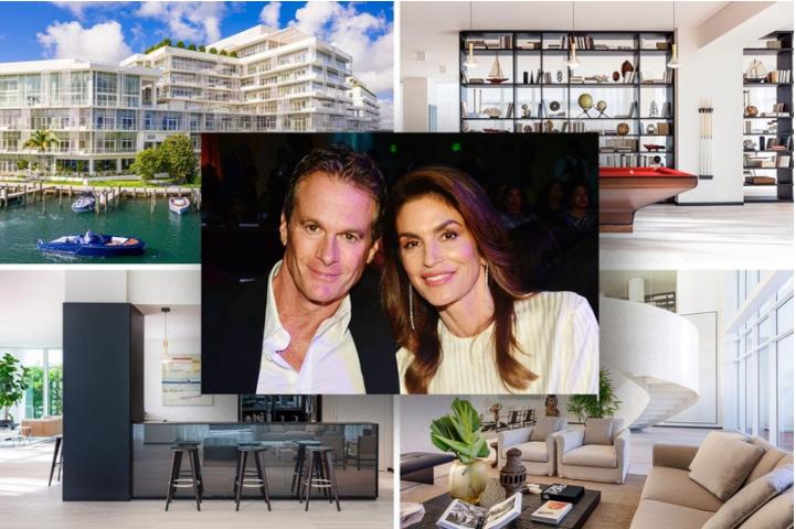 ợ chồng vợ chồng siêu mẫu Cindy Crawford mới đây đã tậu căn penthouse (căn hộ áp mái) thuộc tổ hợp 9 tầng Ritz-Carlton Residences, Miami, Florida (Mỹ).