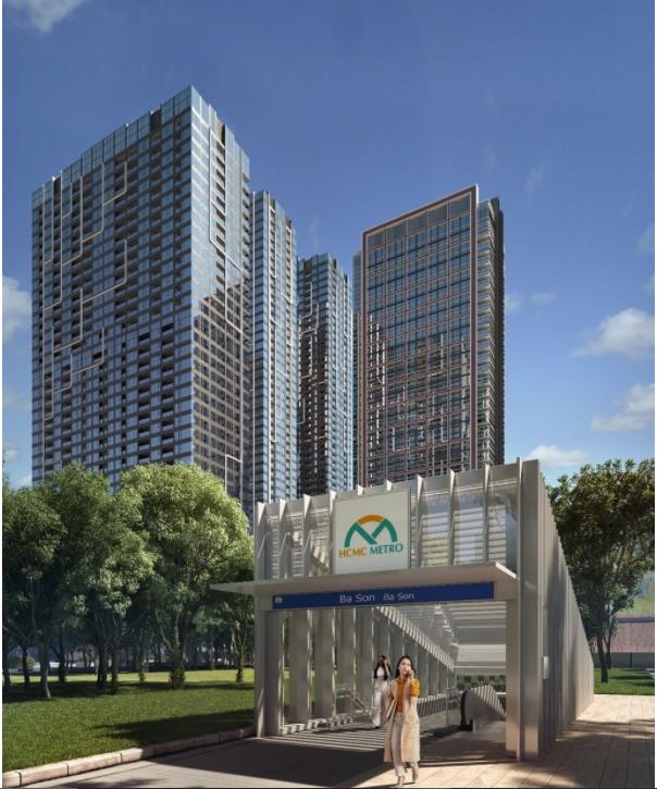 Trạm metro Ba Son sẽ nằm trong khu vực 10 héc-ta của Grand Marina.