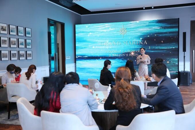Triển lãm kết hợp ra mắt chính thức Grand Marina tại Việt Nam, hôm 15/5. Ảnh:Masterise Homes.